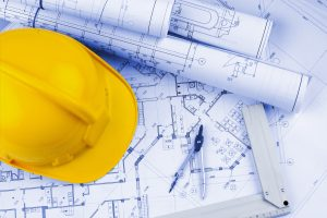 Construction Blueprint Work Tool Plan Hardhat Planning Construction Equipment